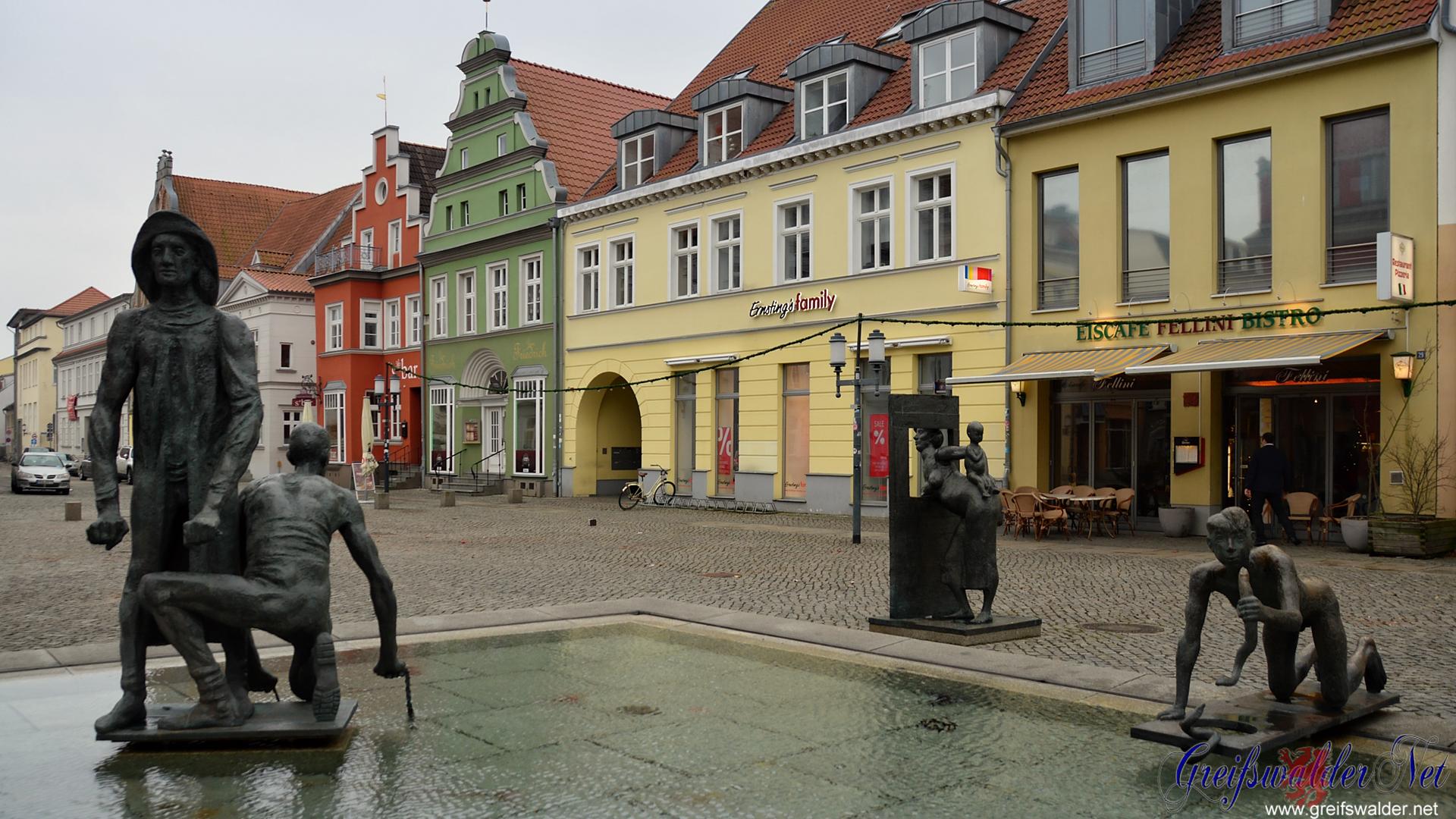 Fischerbrunnen in Greifswald