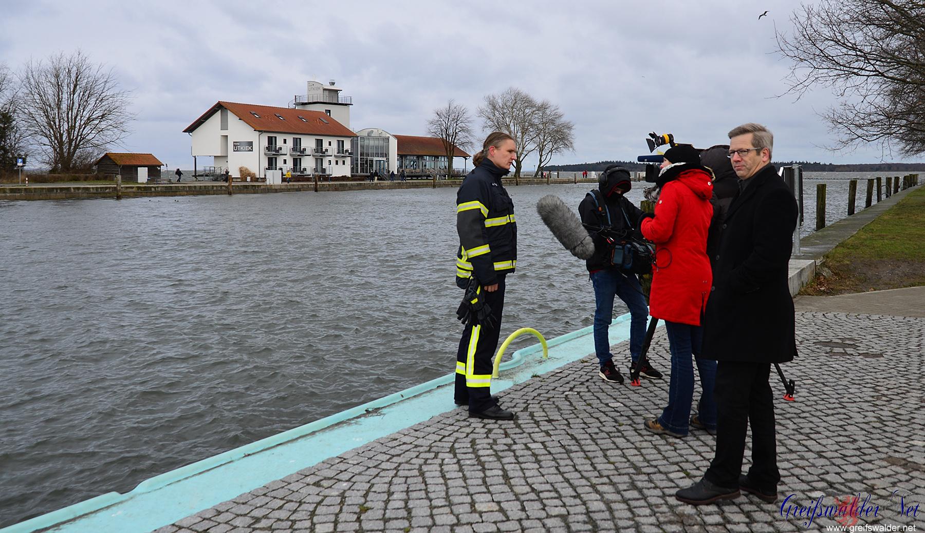 TV-Interview in Greifswald-Wieck