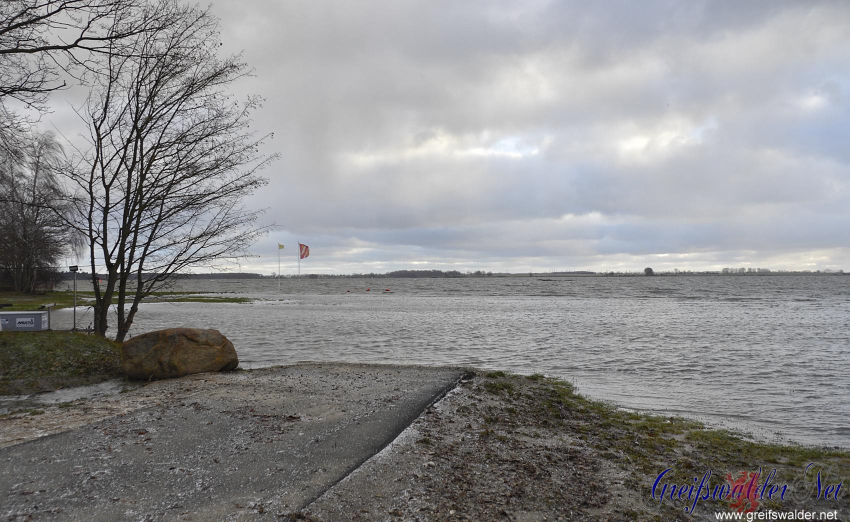 Hochwasser in Greifswald-Wieck
