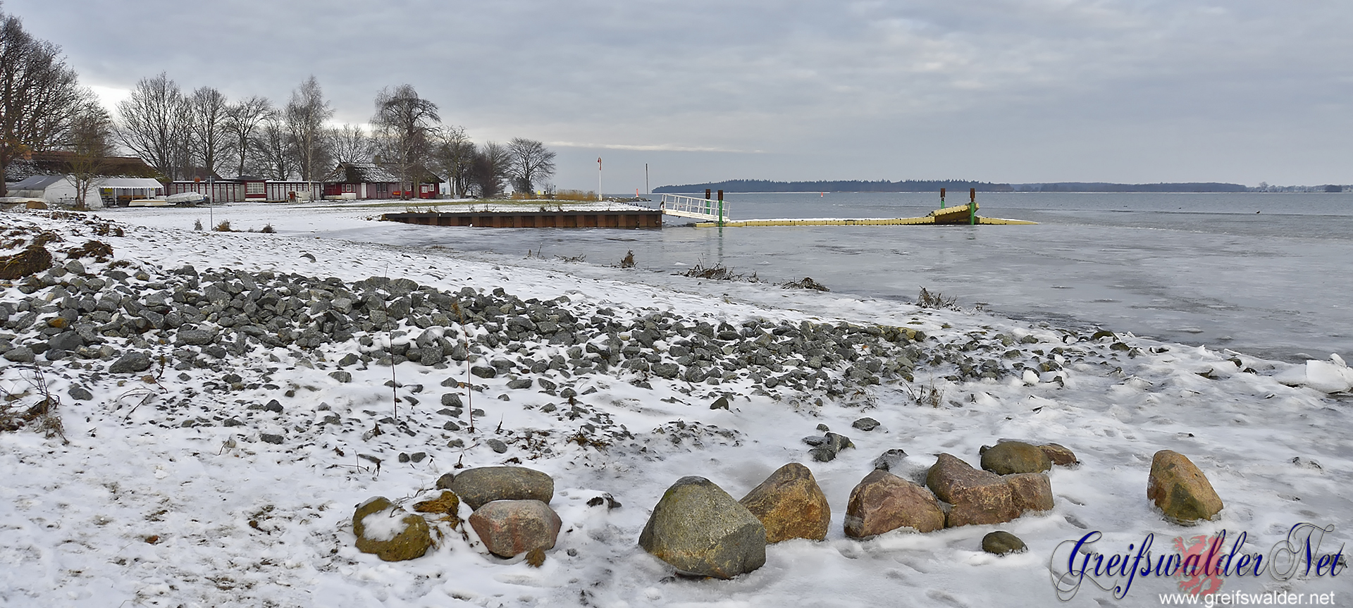 Winter an der Dänischen Wiek in Greifswald-Wieck