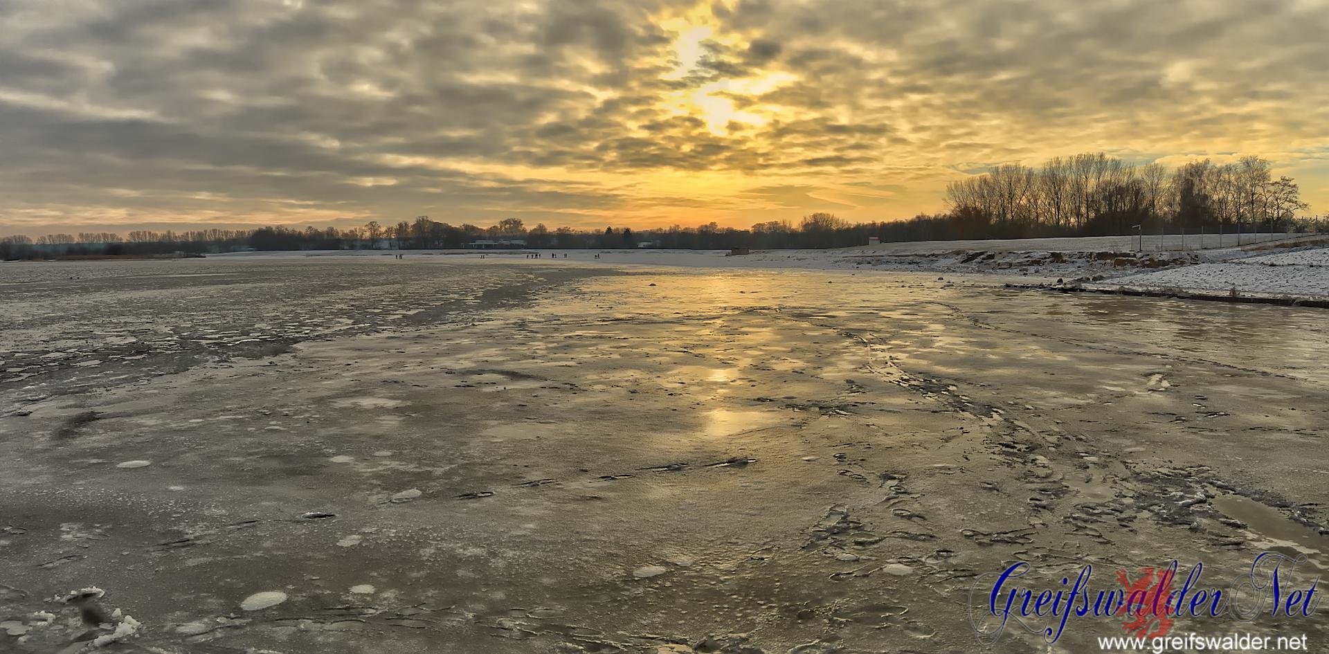 Winter am Strand in Greifswald-Eldena
