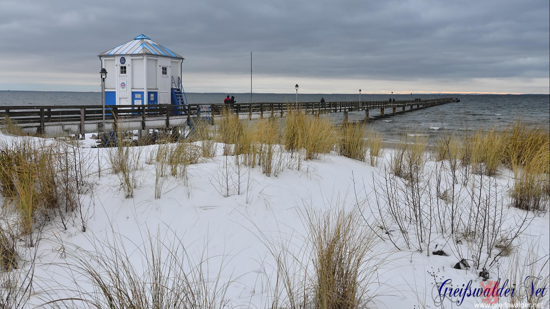 Seebrücke Lubmin im Winter