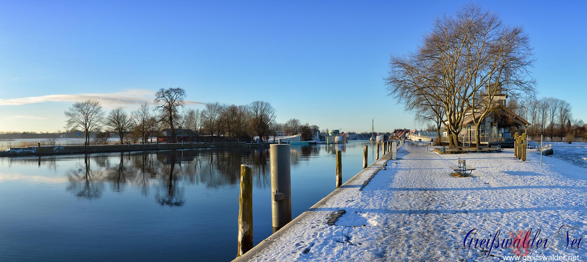 frostiger Wintermorgen in Greifswald-Wieck