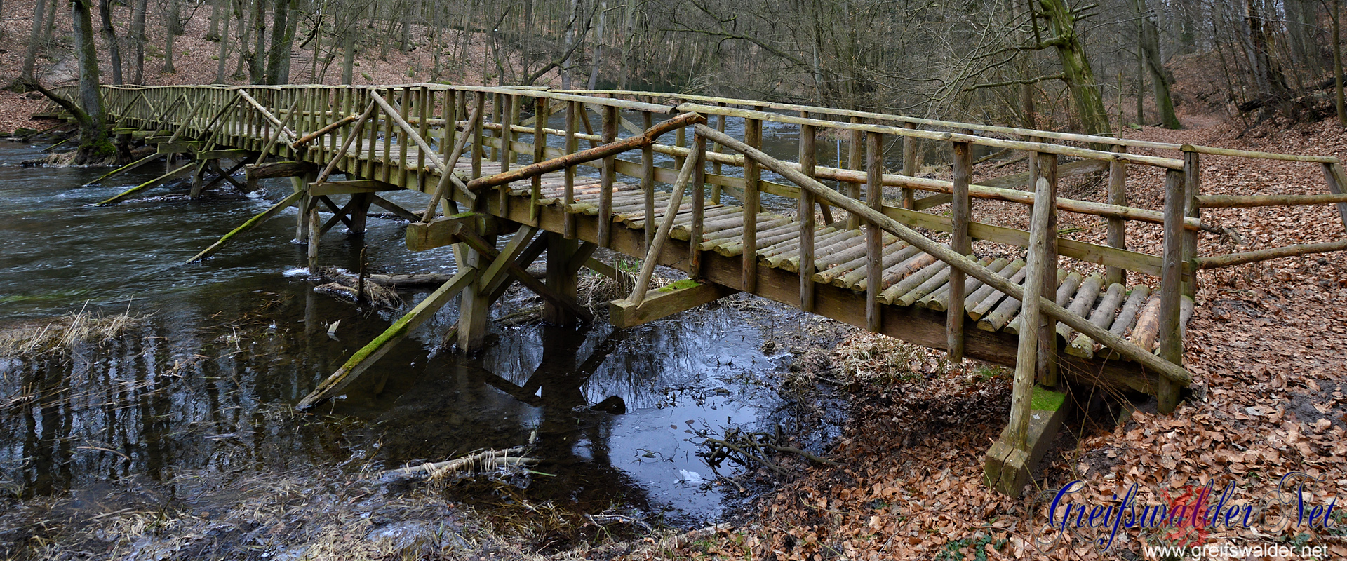 Brücke im Warnow-Durchbruchstal