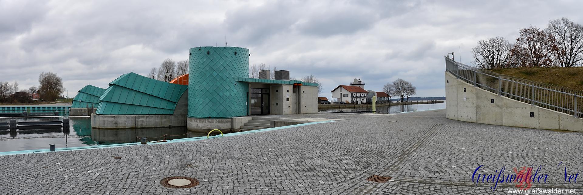Sperrwerk und Utkiek in Greifswald-Wieck