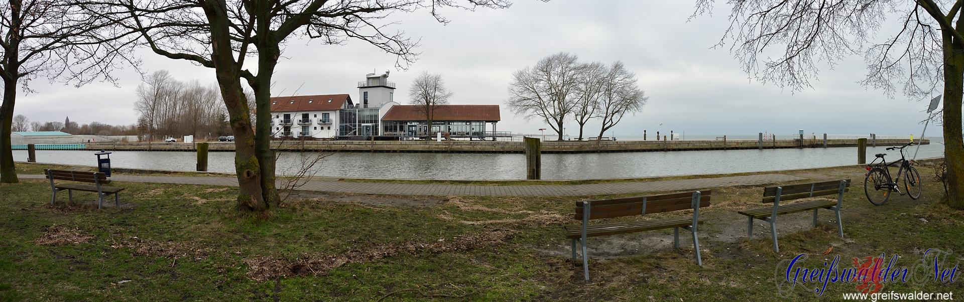 Utkiek und Mole in Greifswald-Wieck