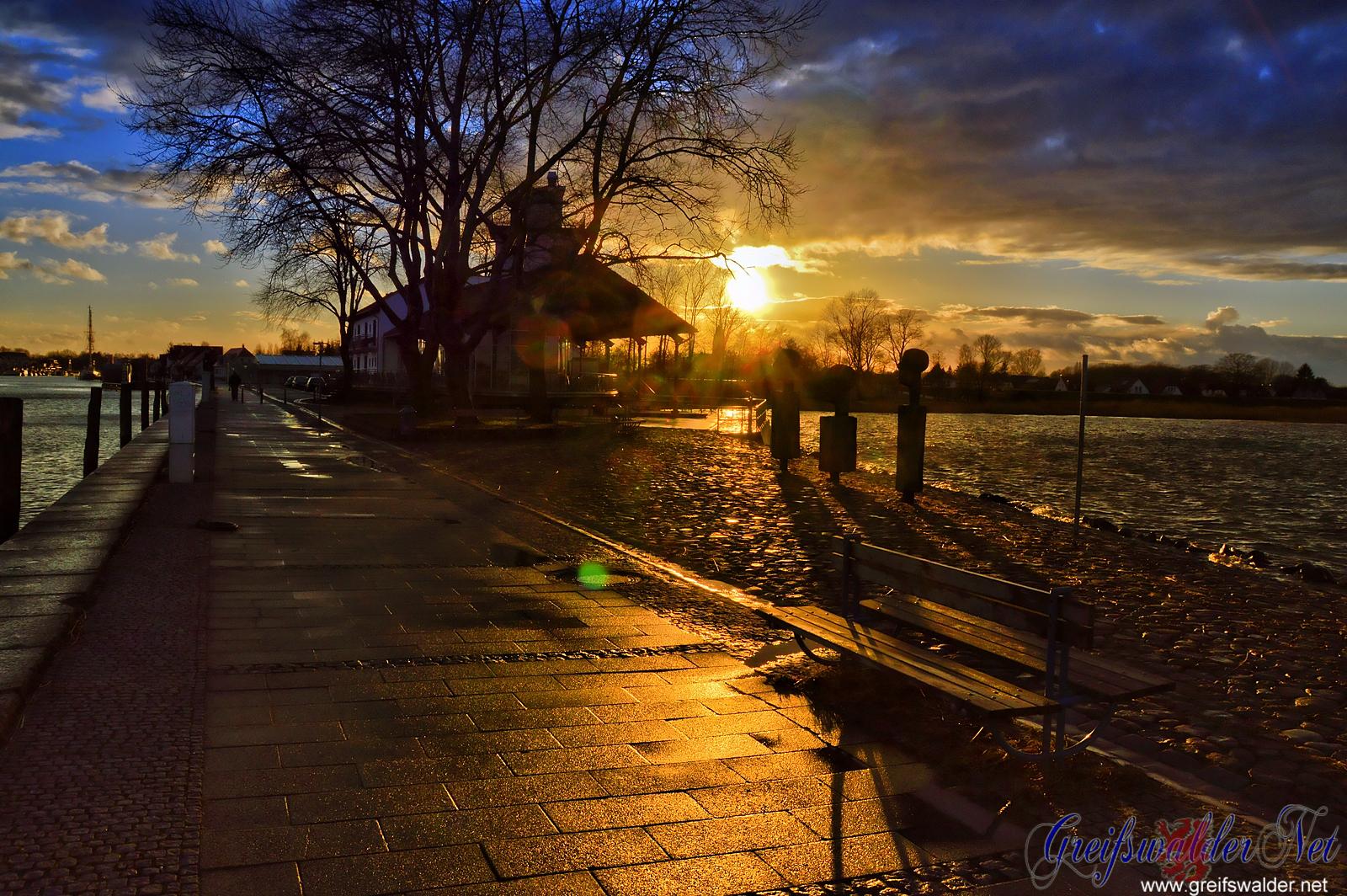 Sonnenuntergang in Greifswald-Wieck
