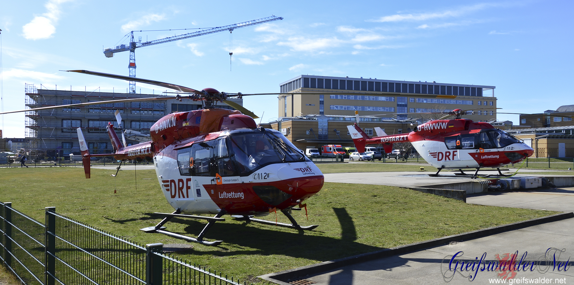 Rettungshubschrauber in Greifswald