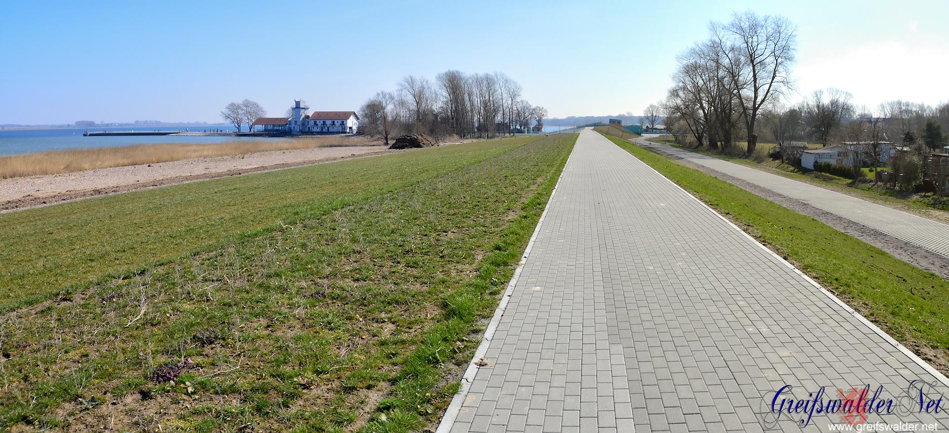 Deich zwischen Wieck und Ladebow in Greifswald