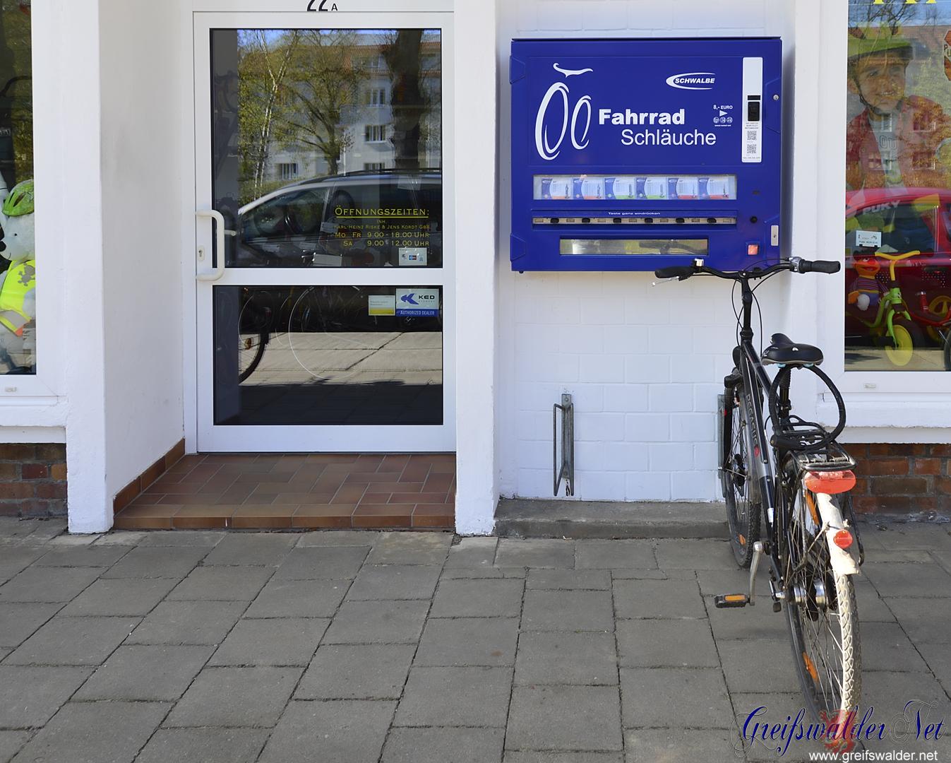 Fahrradschlauch-Automat