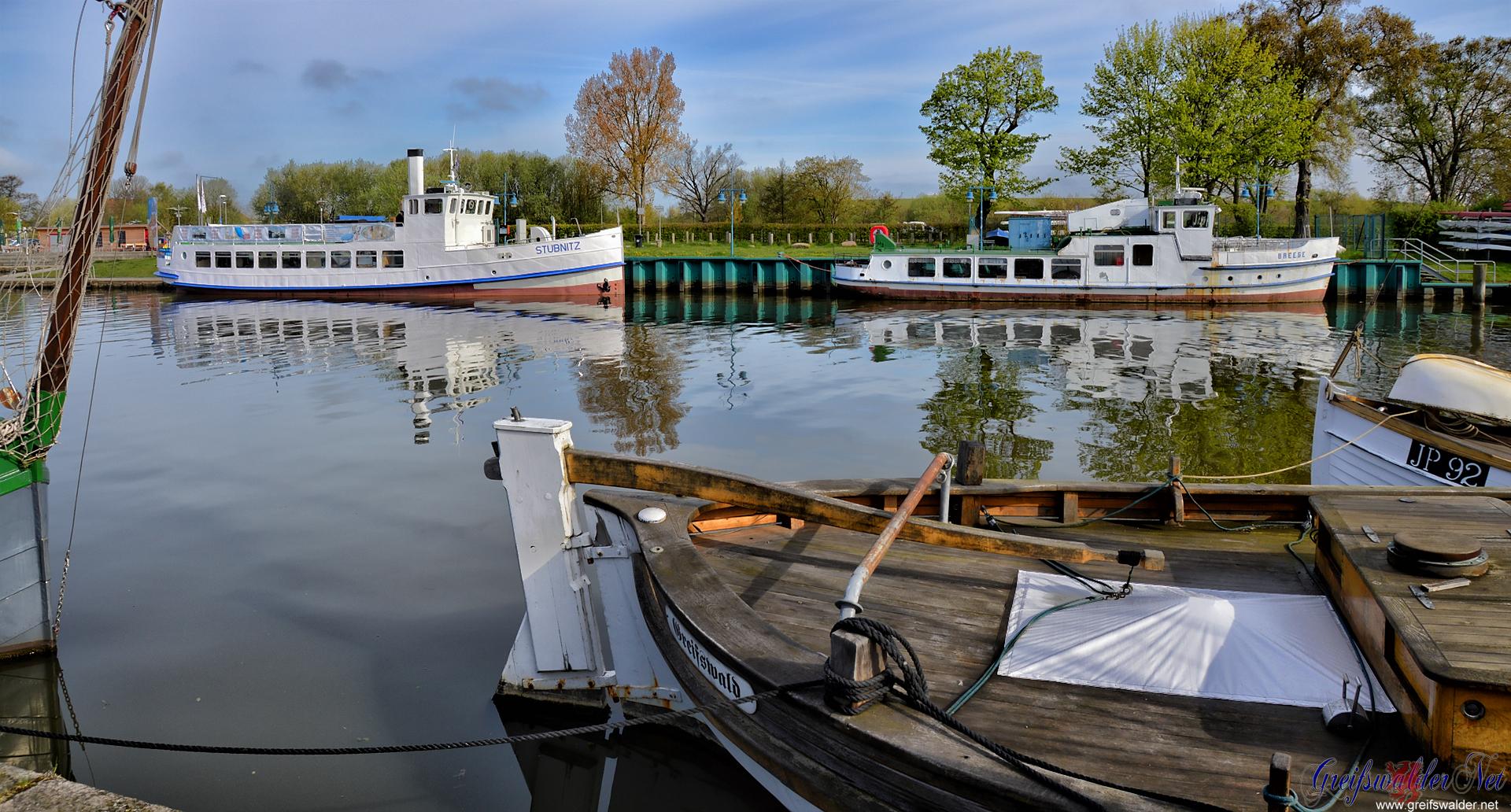 Donnerstagmorgen am Museumshafen in Greifswald