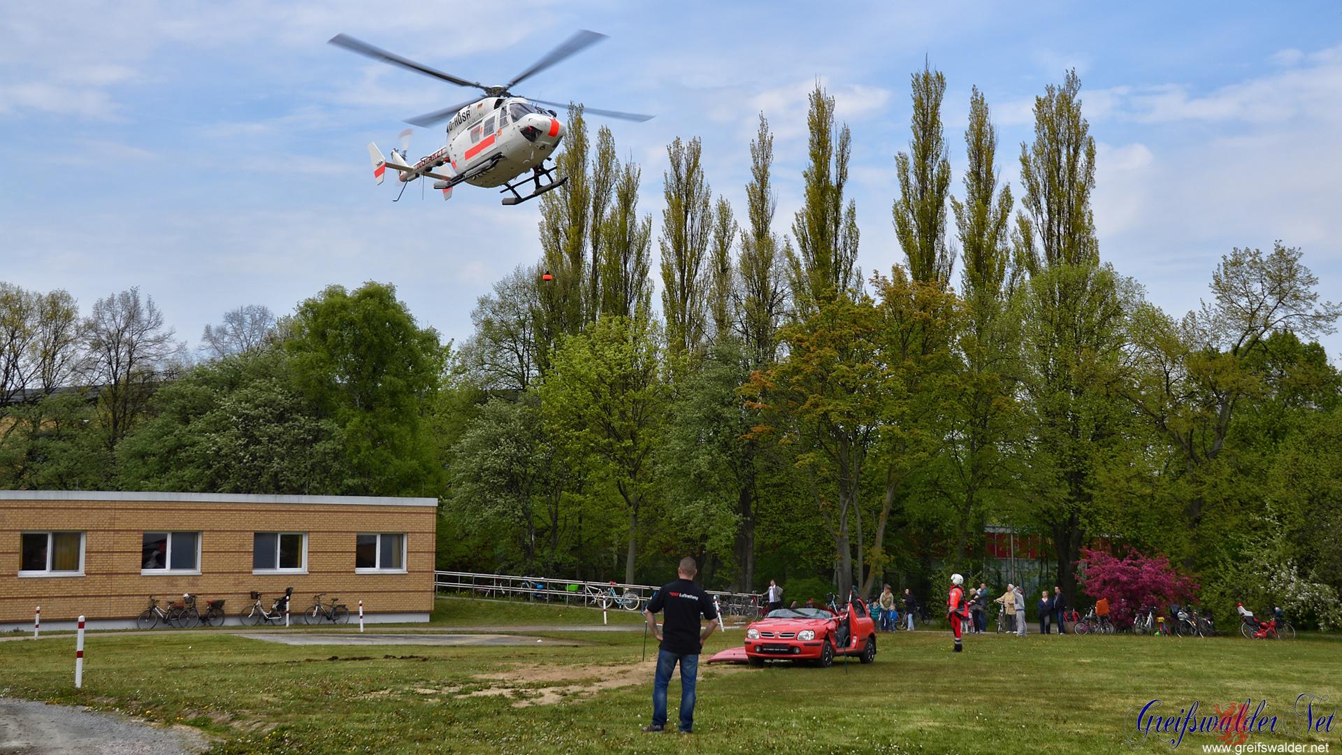 Rettungshubschrauber Übung