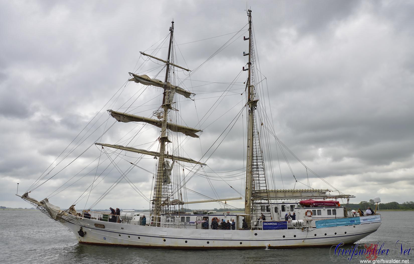 """Segelschulschiff """"Greif"""" geht auf Fahrt"""