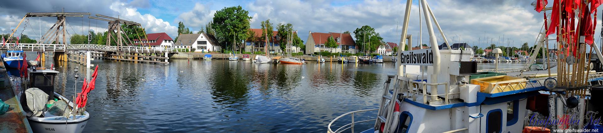 Panorama Hafen Greifswald-Wieck