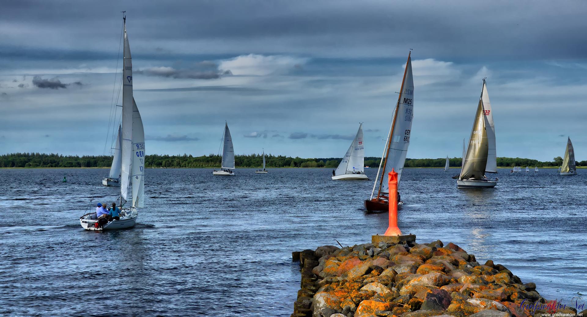 Segelboote auf der Dänischen Wiek