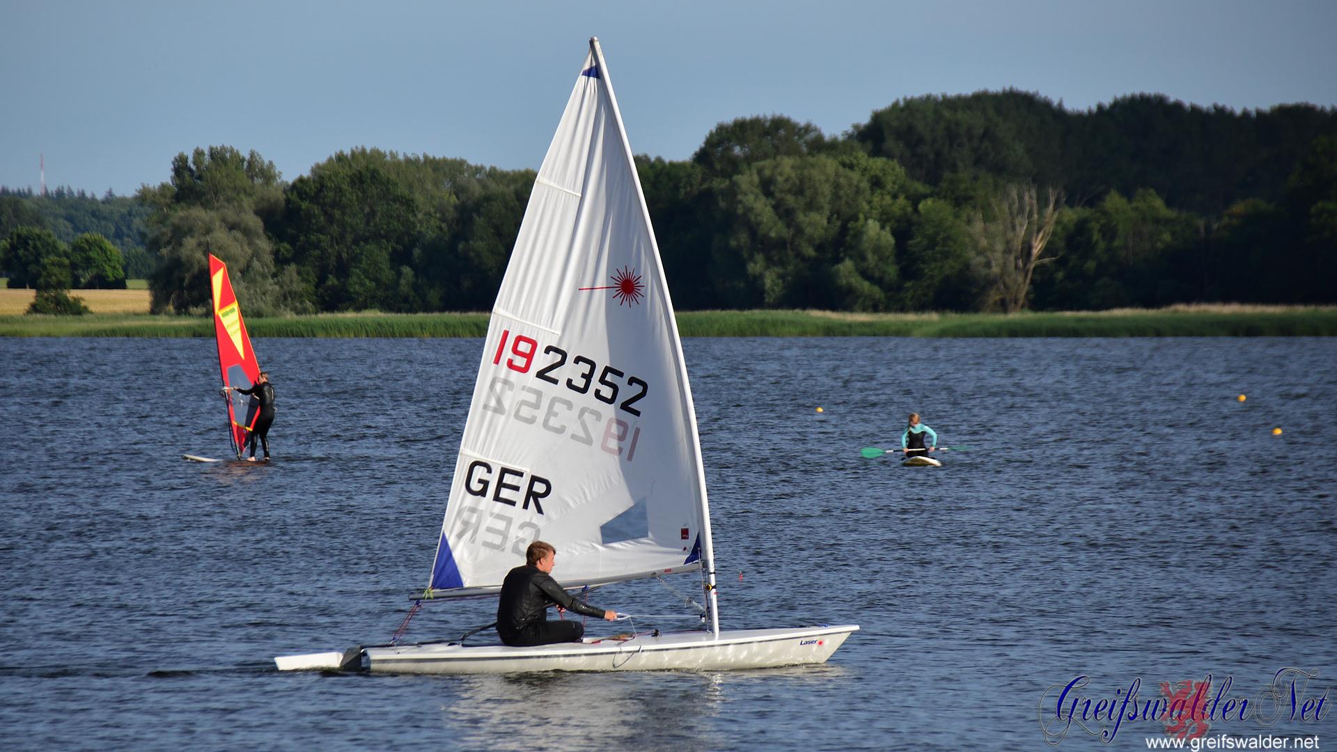 Wassersportler auf der Dänischen Wiek