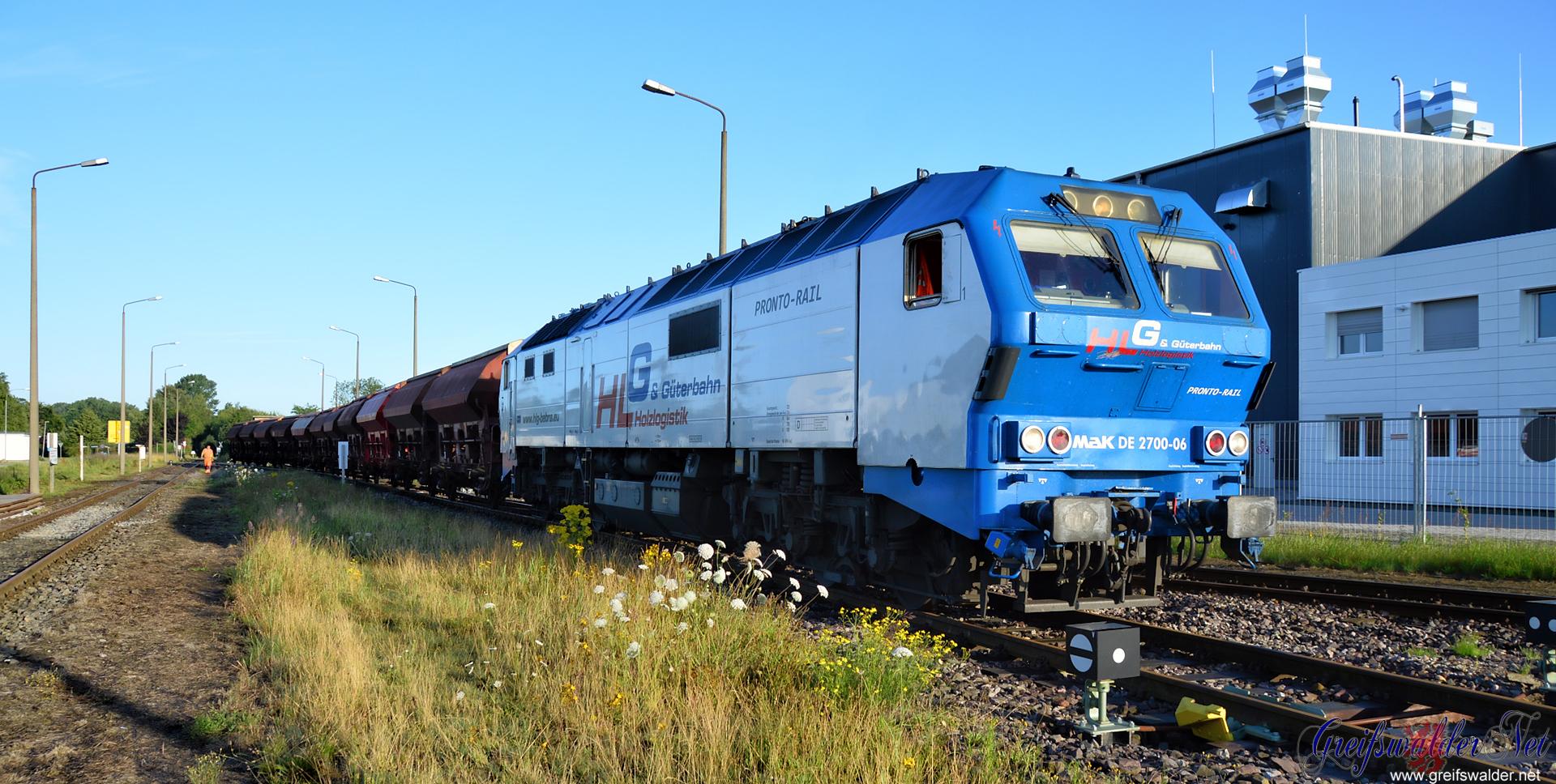 Güterzug in Greifswald-Ladebow
