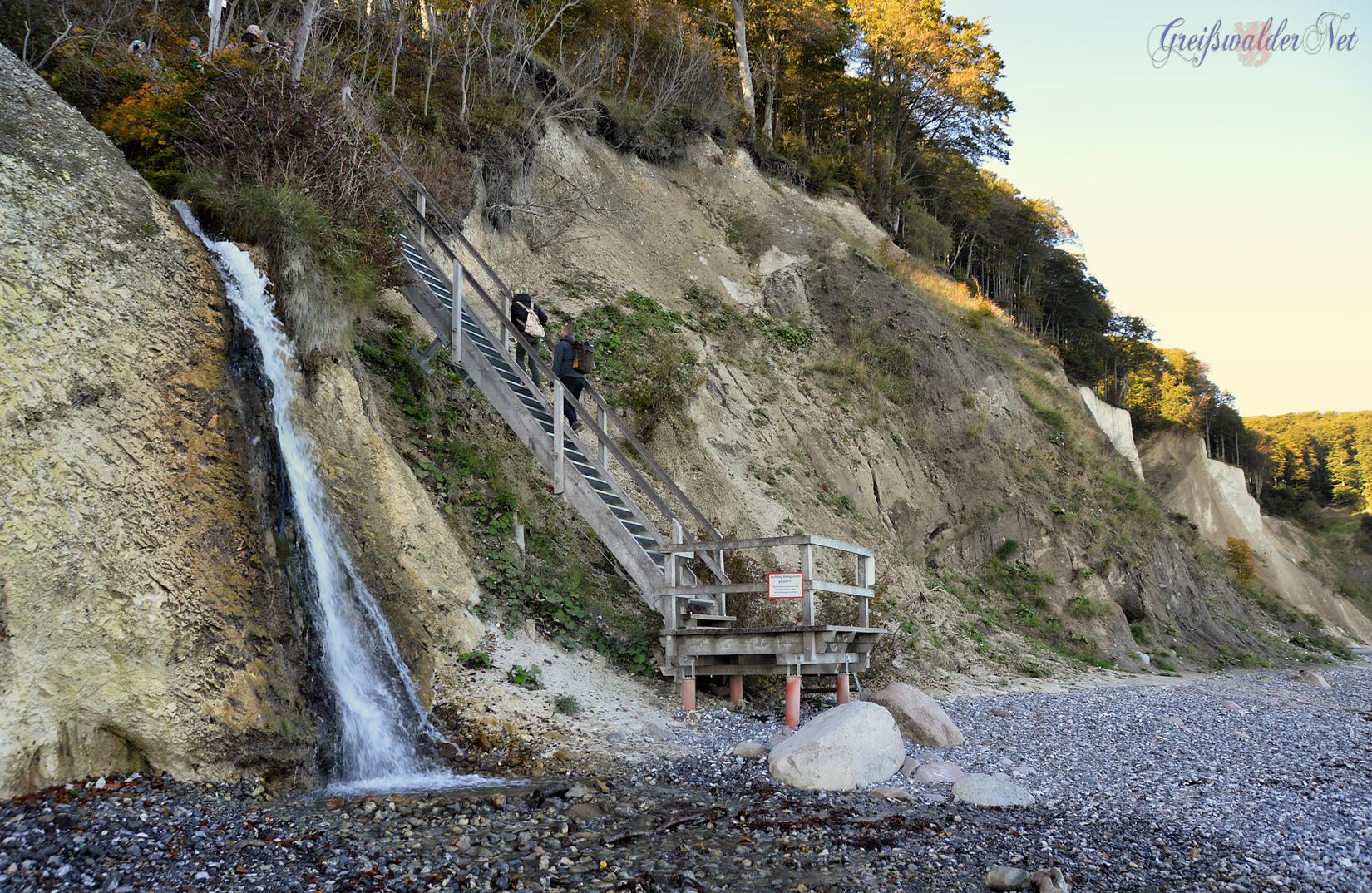 "Wasserfall am ""Kieler Bach"" auf der Insel Rügen"