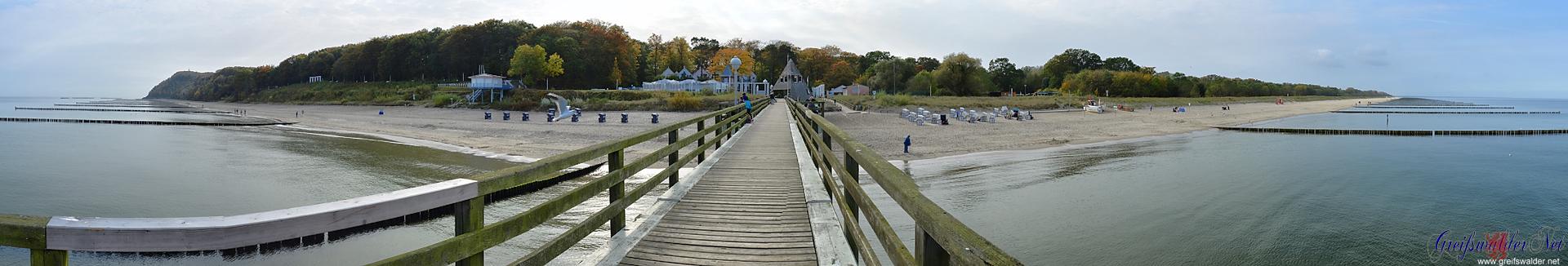 Panorama Seebrücke Koserow