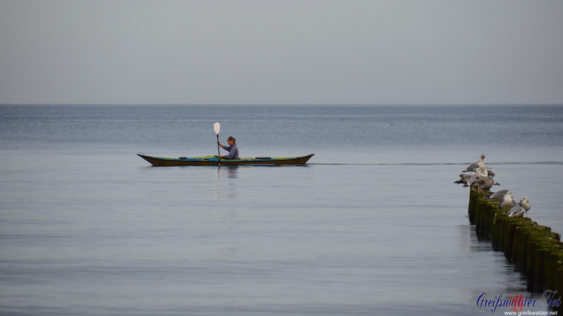 paddeln auf der Ostsee
