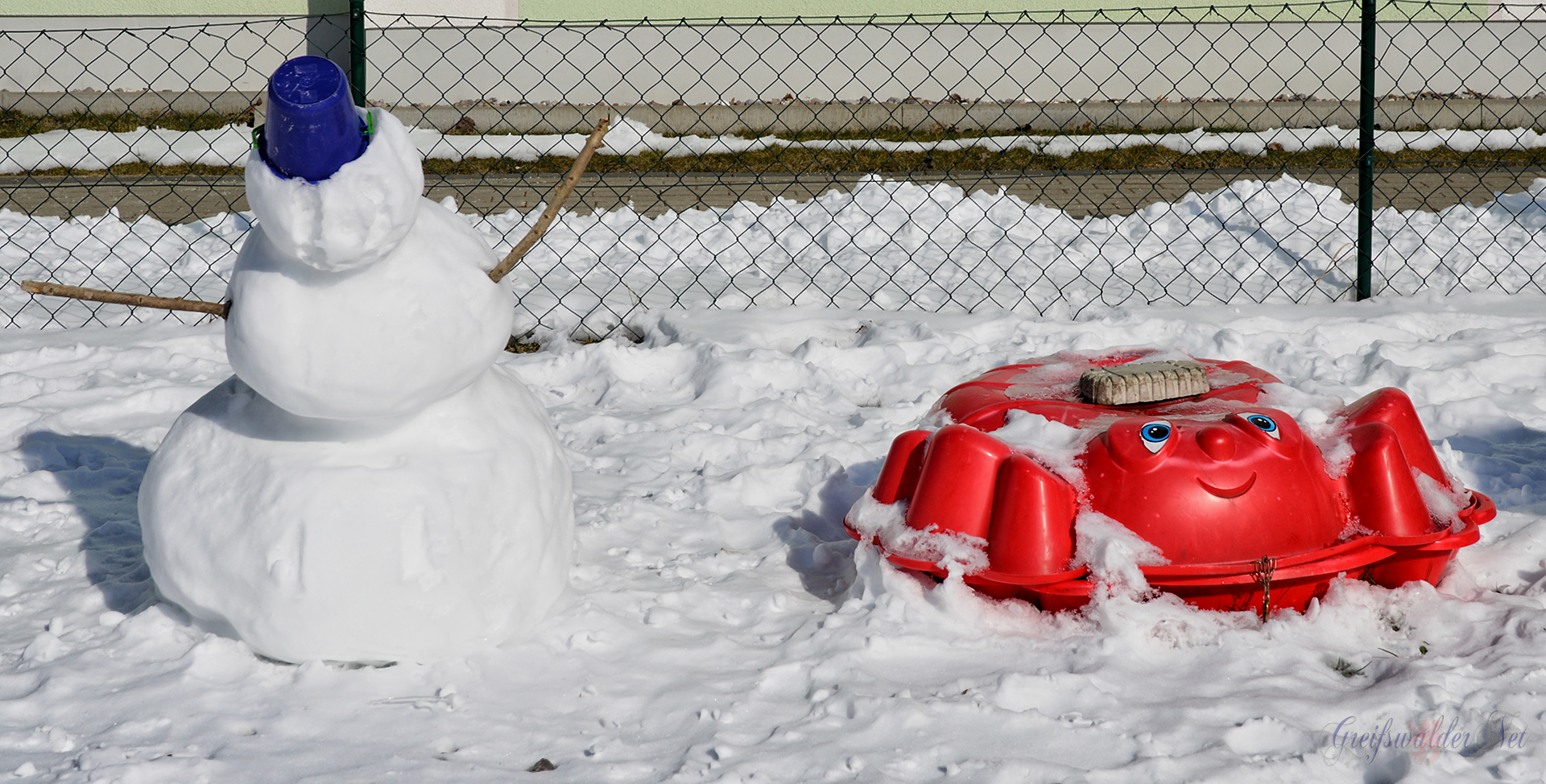 Winterspaß - Schneemann