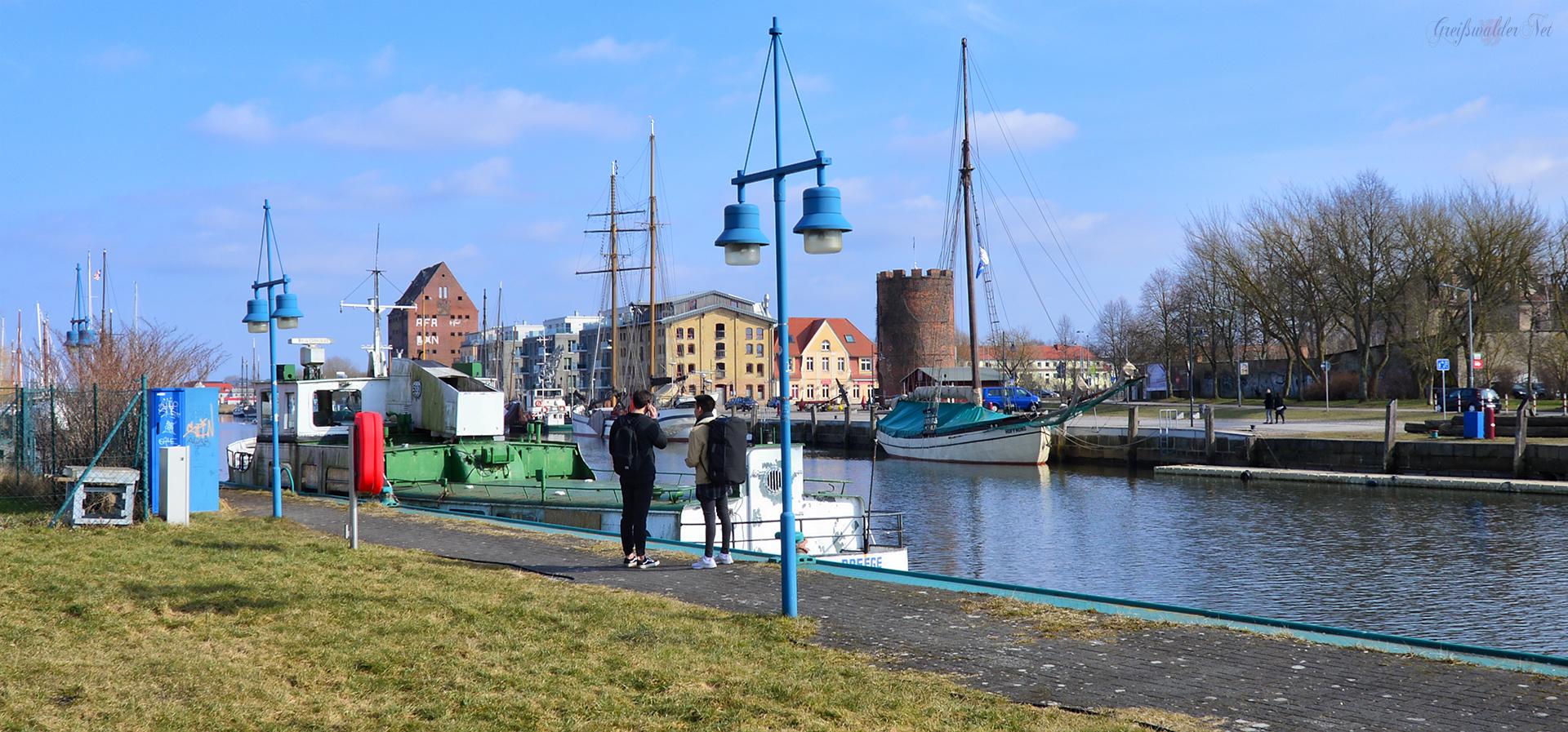 Frühling am Museumshafen in Greifswald