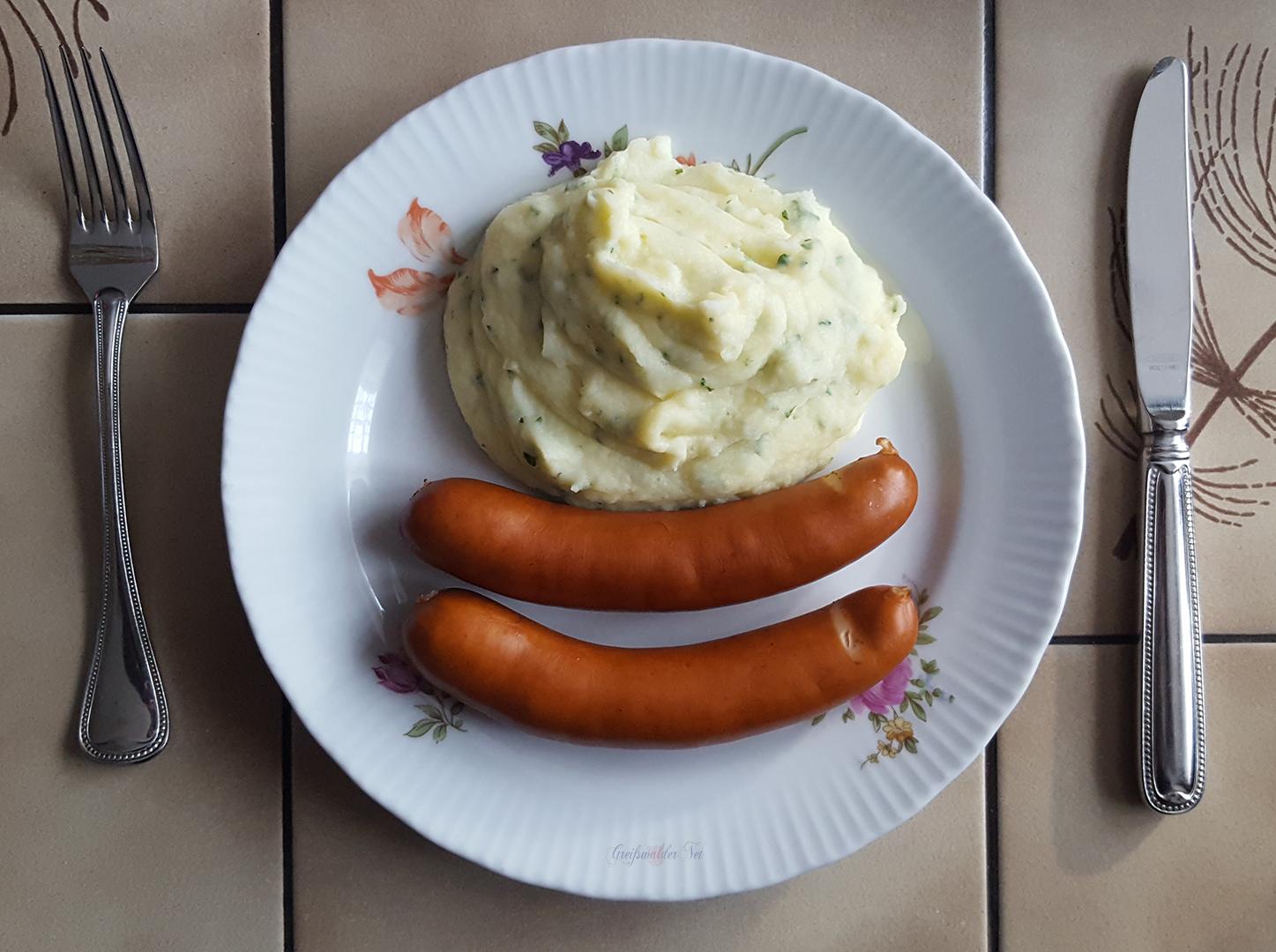 Thüringer Bockwurst mit Kartoffelpüree