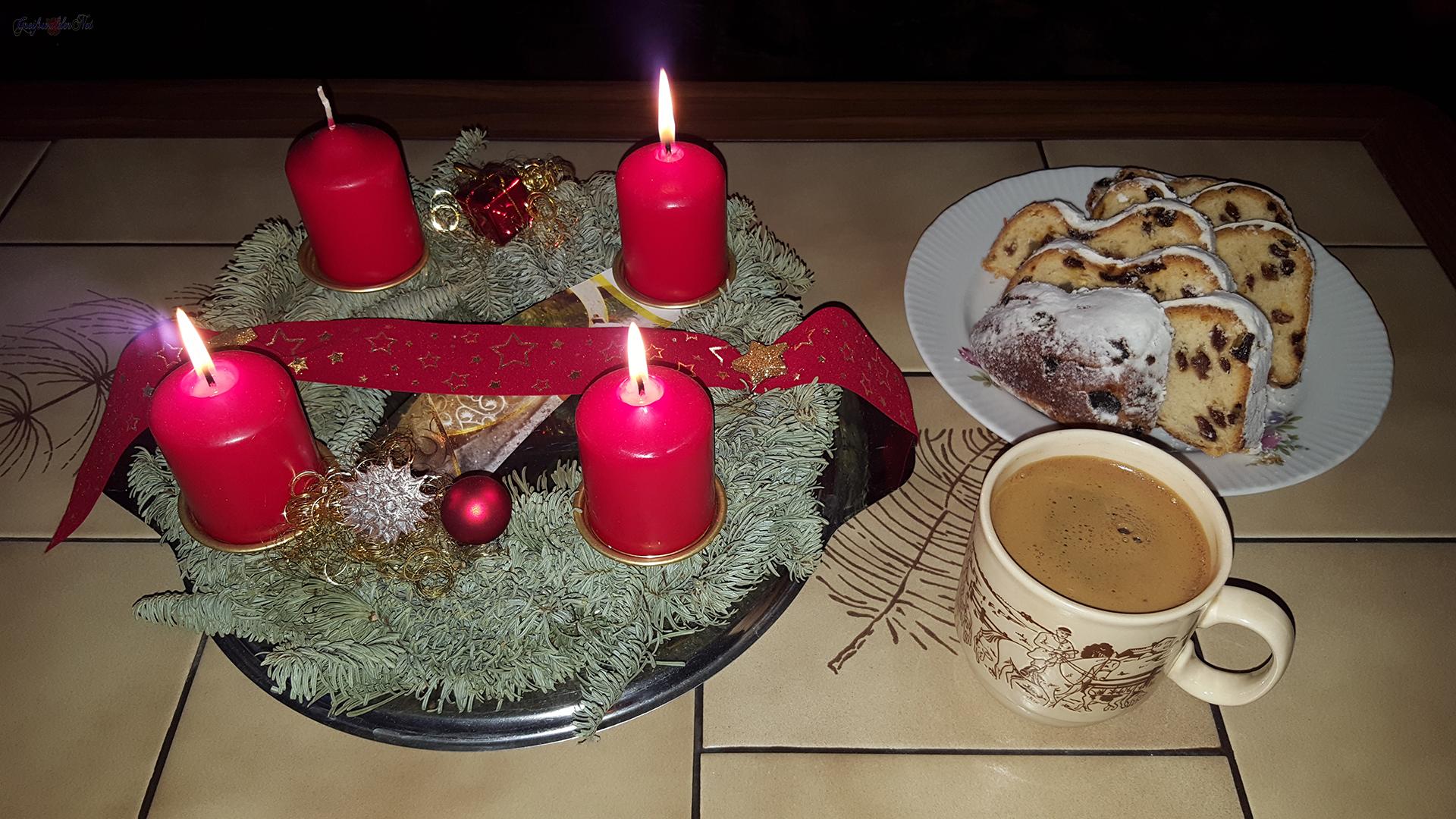 Stollen und Kaffee am 3. Advent