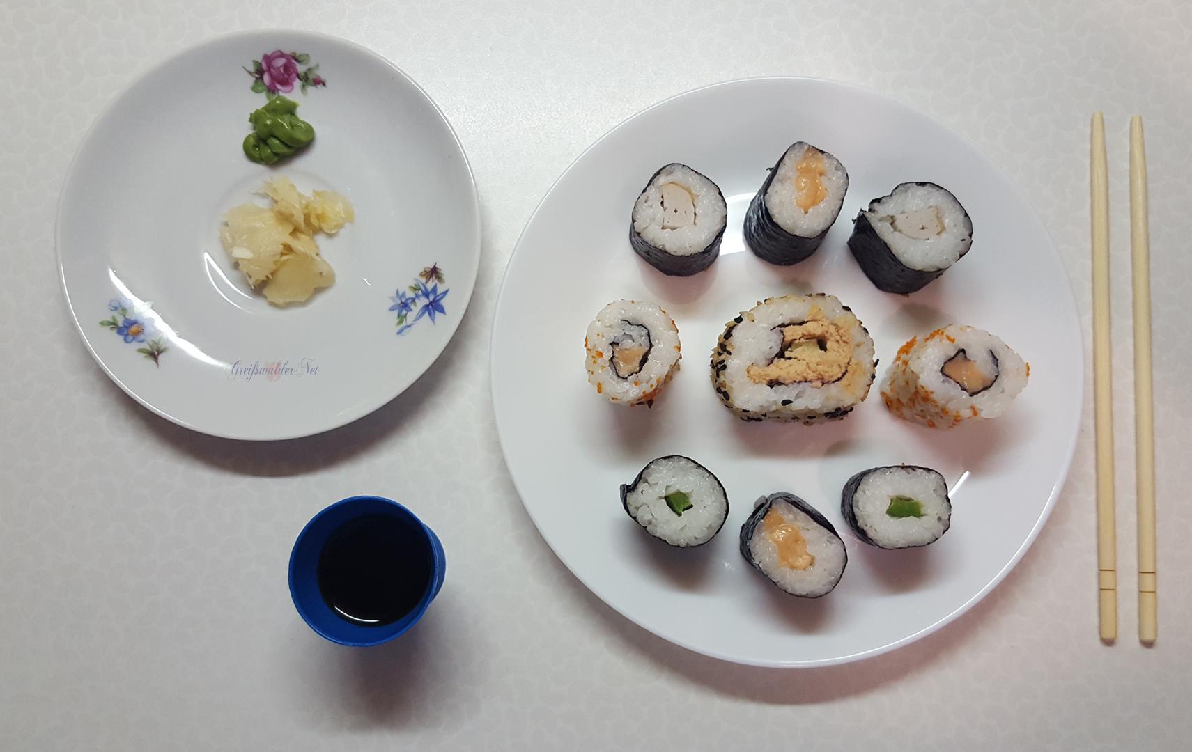 Sushi zum Abendessen