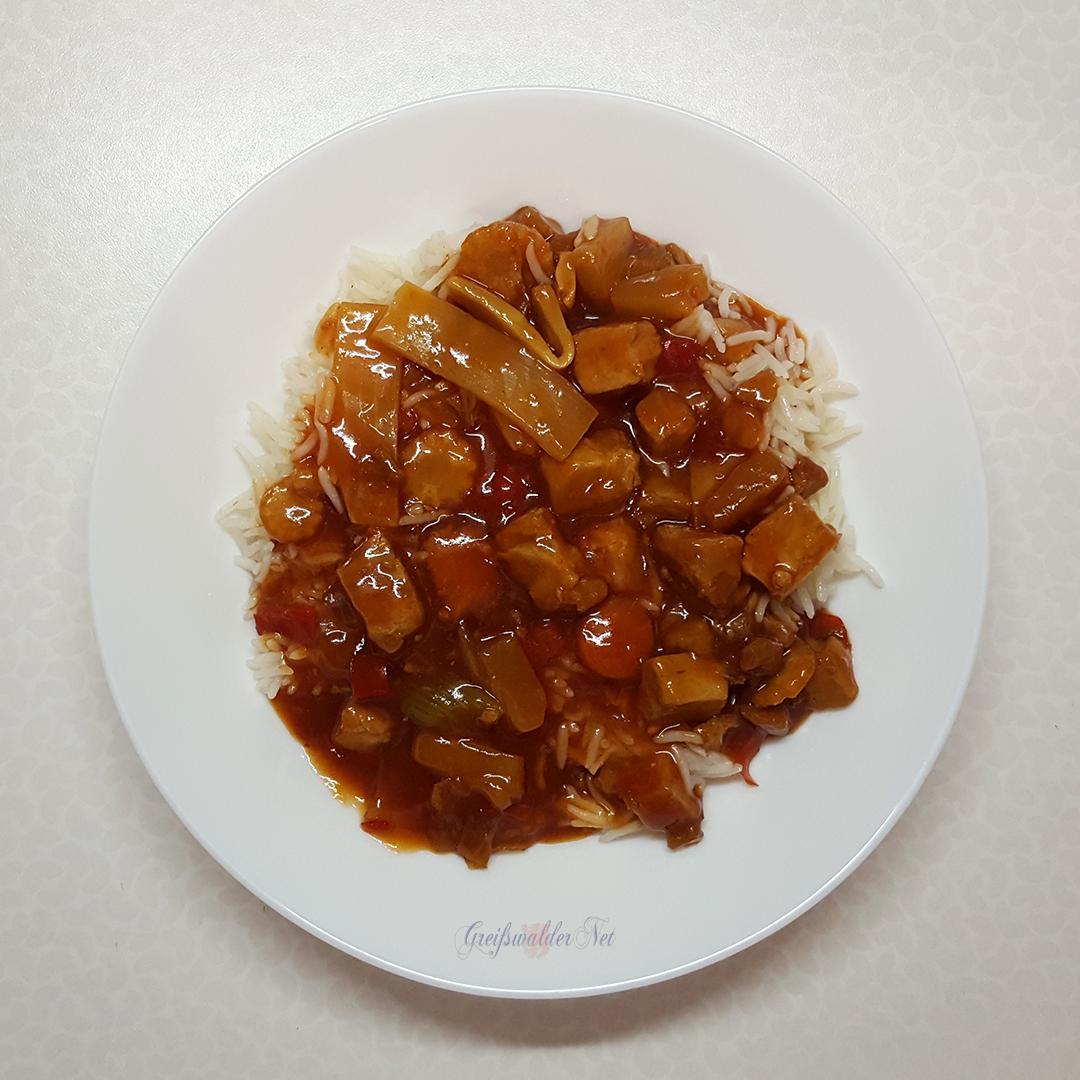 Hähnchen süss-sauer mit Basmati-Reis