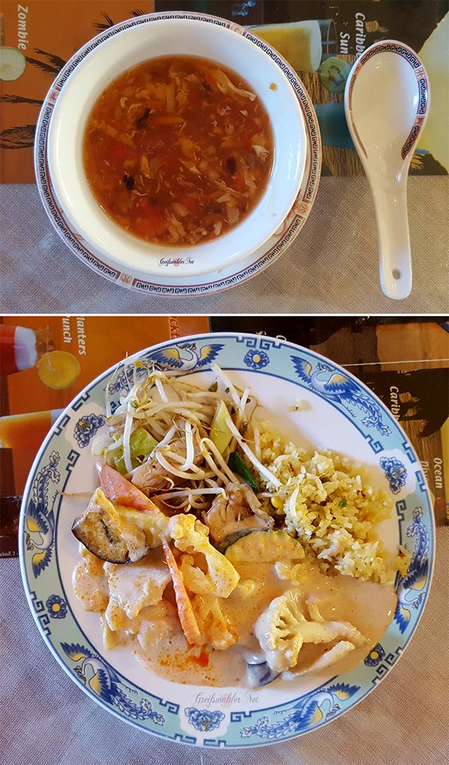 Abendessen vom Asia-Buffet