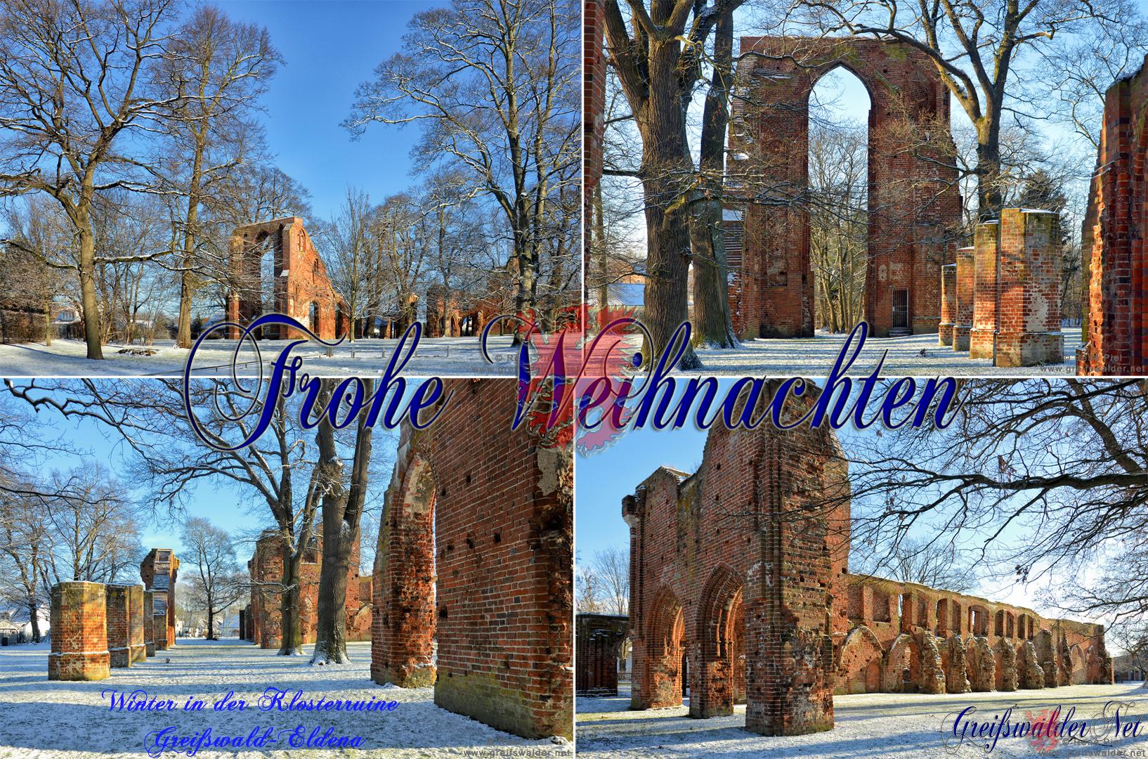 Winter in der Klosterruine Greifswald-Eldena