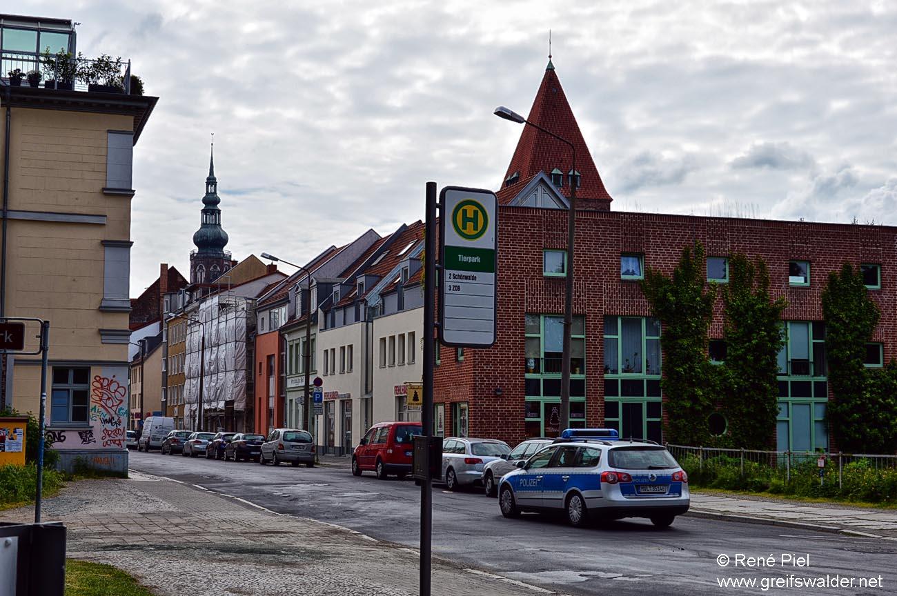 Lange Straße (Höhe Amtsgericht) in Greifswald
