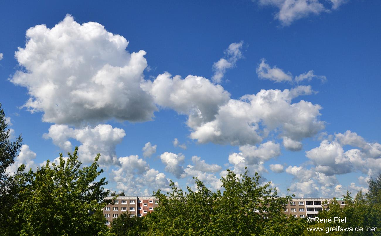 Wolken über Greifswald