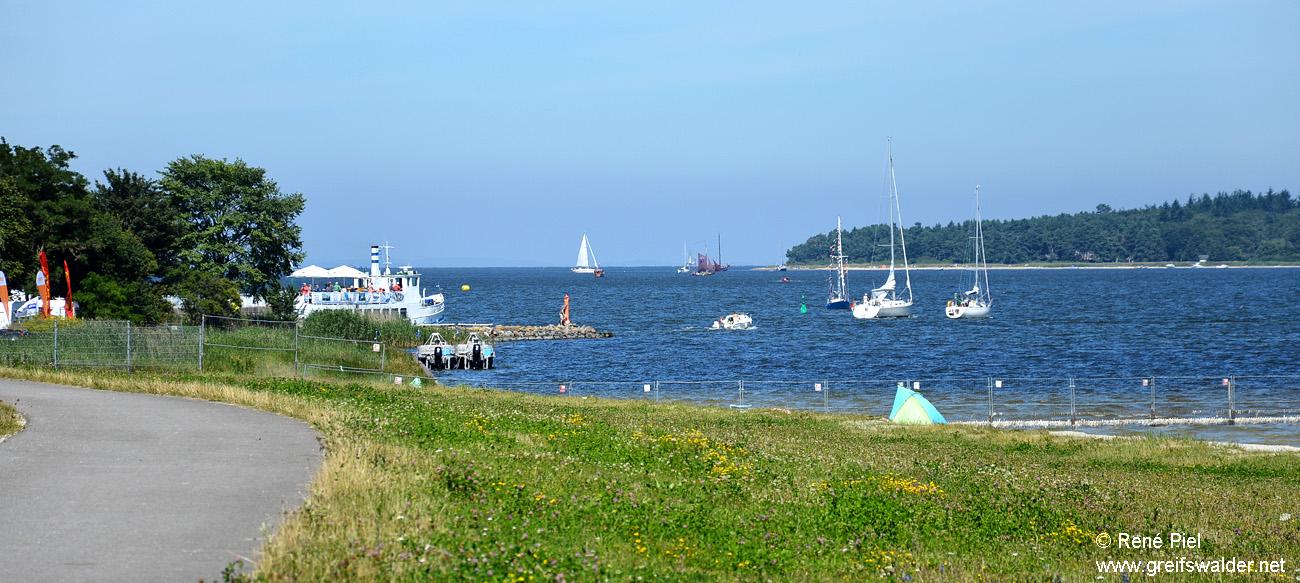 Blick auf die Dänische Wiek und den Greifswalder Bodden