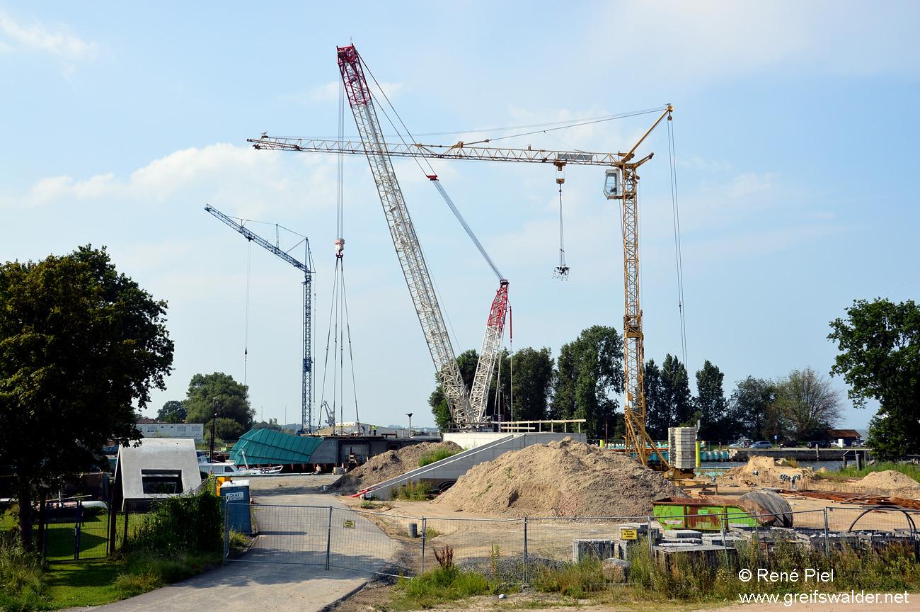 Baustelle Sperrwerk in Greifswald