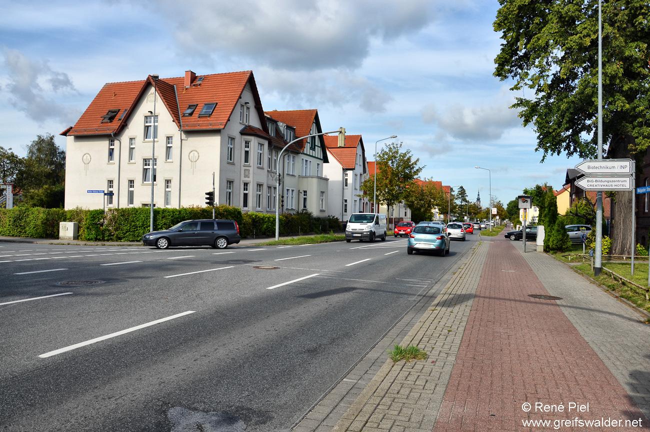 Wolgaster Straße in Greifswald