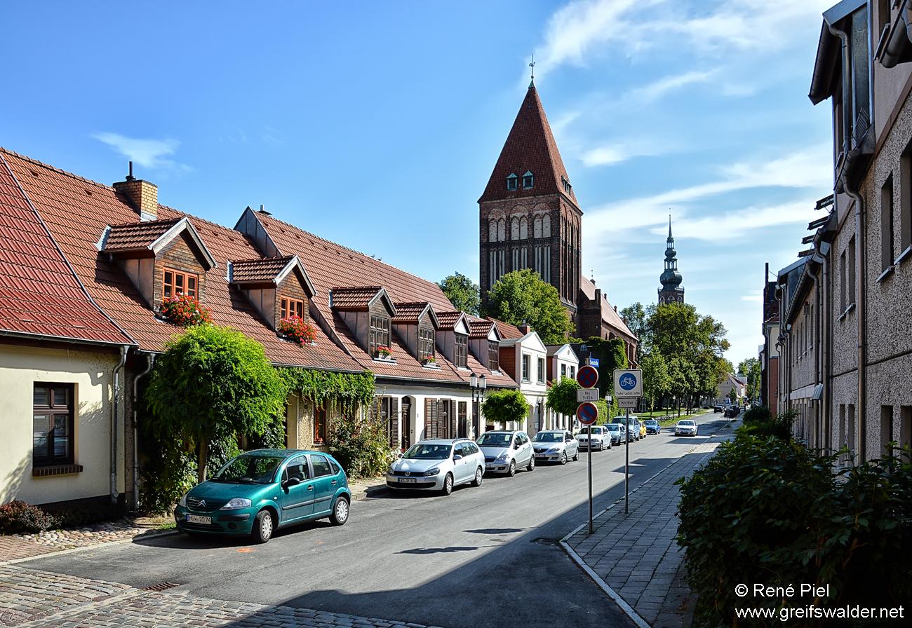 In der Domstraße in Greifswald