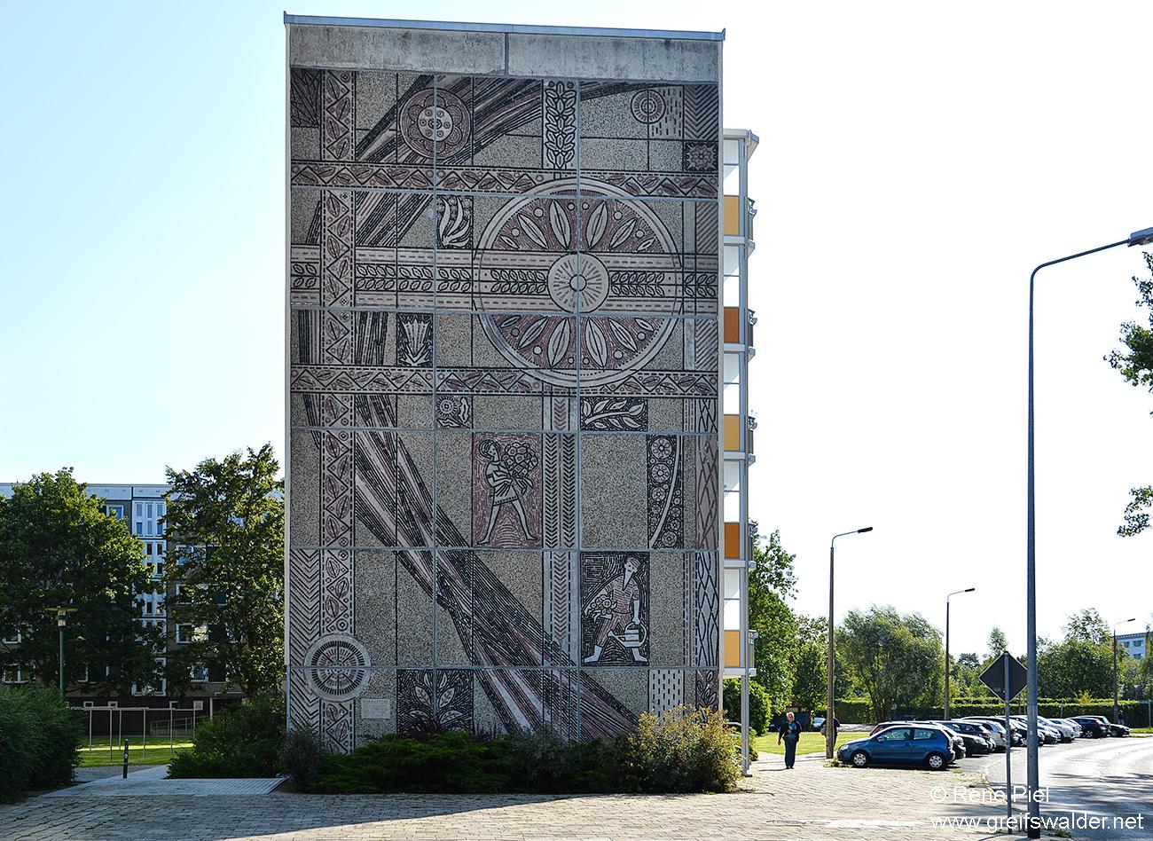 Greifswald - Fassade im Dubnaring