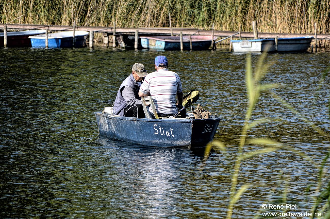 Angler auf dem Gützkower See