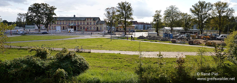 Am Bahnhof in Greifswald