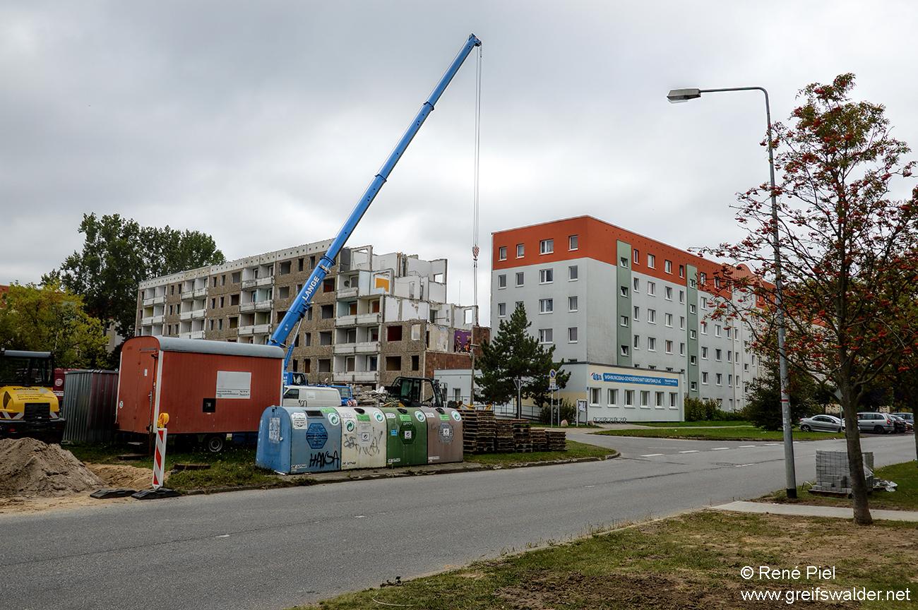 Abbrucharbeiten Makarenkostraße Greifswald