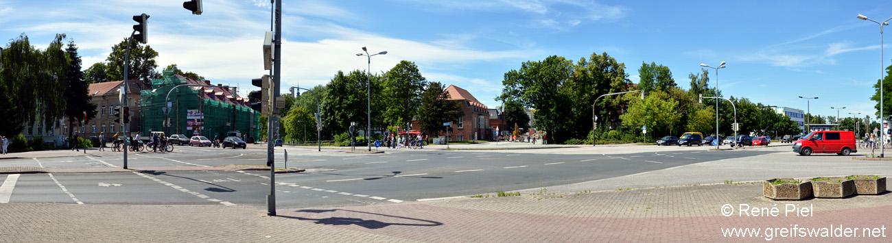 Europakreuzung in Greifswald