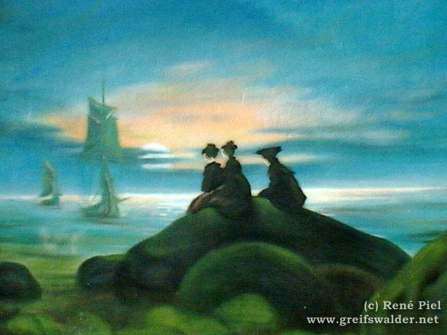 "Graffiti - Caspar David Friedrich - ""Mondaufgang über dem Meer"""