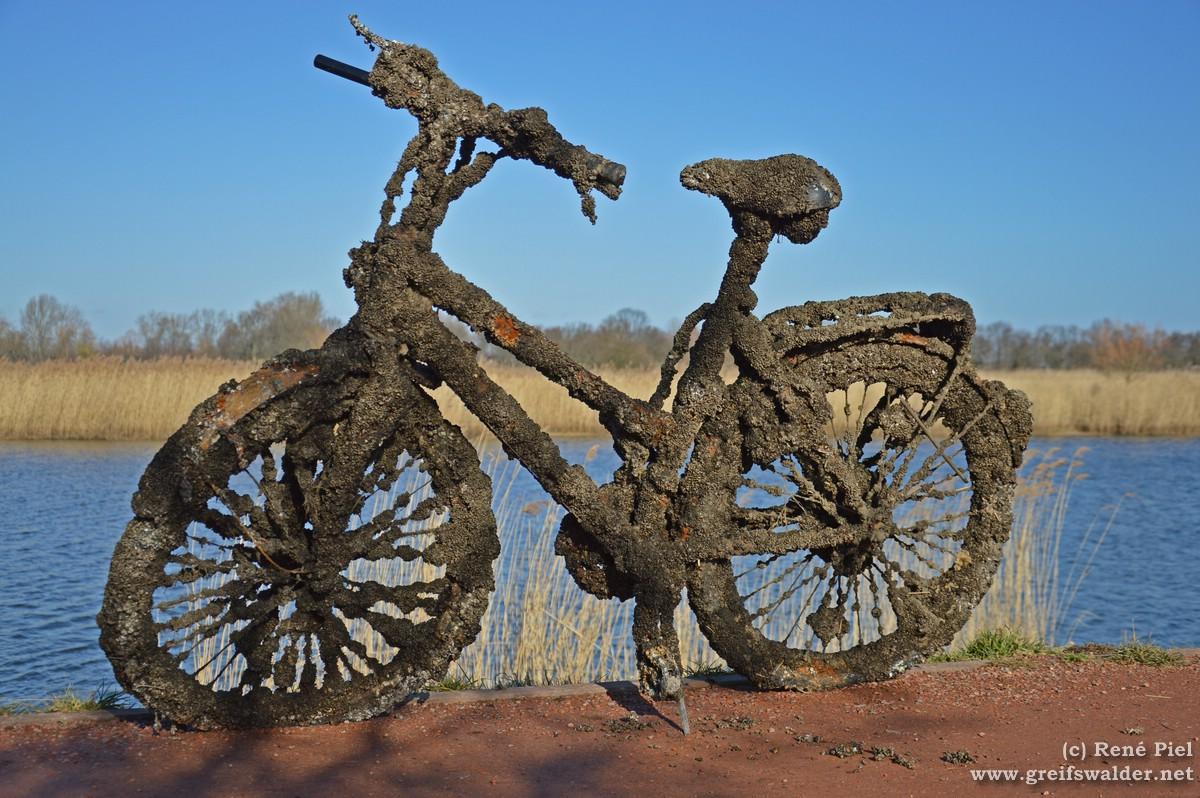 Altes Fahrrad am Ryck
