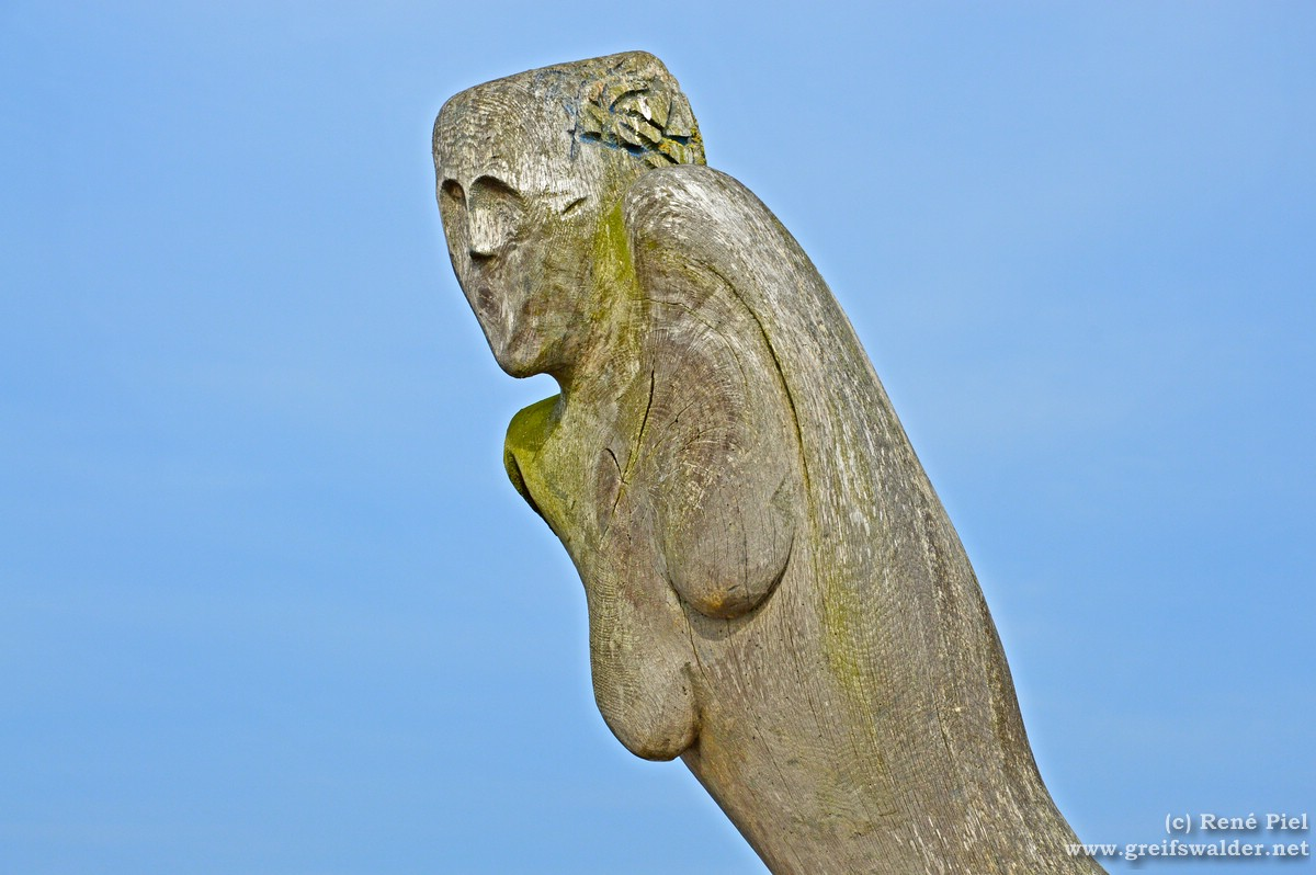 Skulptur an der Mole in Greifswald-Wieck