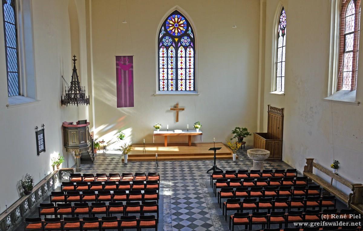 In der Kirche in Gristow