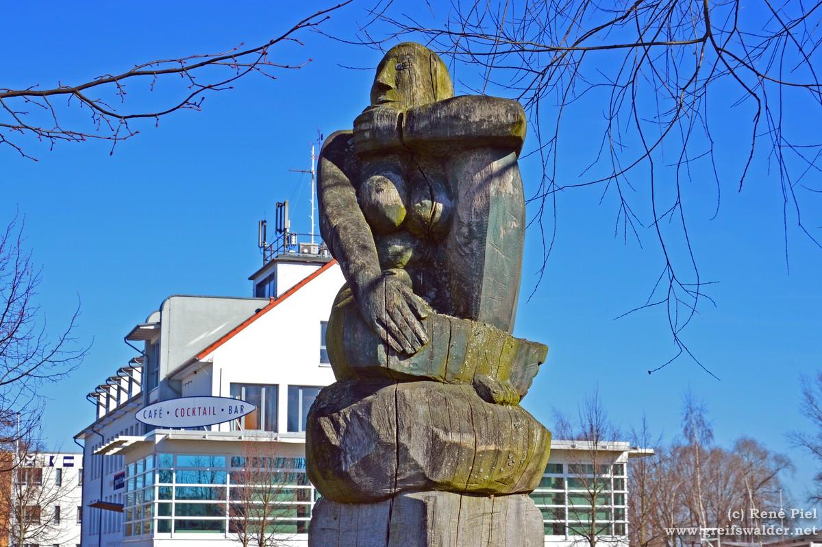 Skulptur in Greifswald-Wieck
