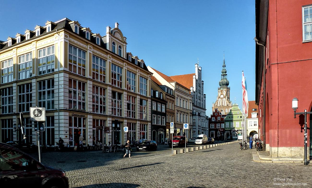 Am Markt in Greifswald