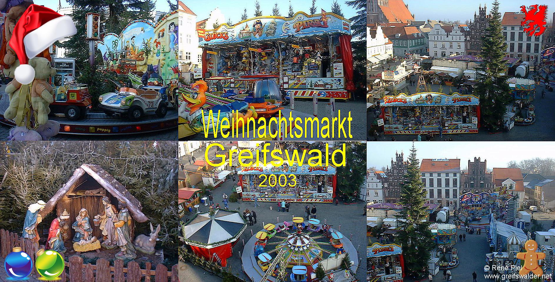 Weihnachtsmarkt Greifswald 2003